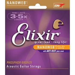 Elixir 16052 Phosphor Bronze Extra Light 12-53